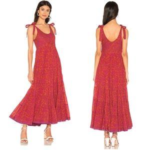 Free People Kikas Floral Print Boho Maxi Dress